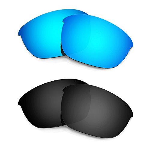 HKUCO Mens Replacement Lenses For Oakley Half Jacket 2.0 Sunglasses Blue/Black Polarized