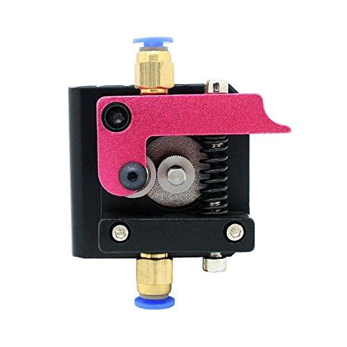 Redrex 1,75mm Filament MK8 Bowden Extrudeuse Cadre Bloc pour Reprap 3D Imprimante Kossel Mendel Prusa (Version droite)