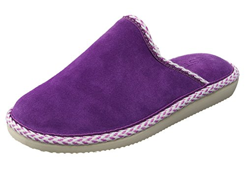ESTRO GEM Damenschuhe Hauspantoffeln Wildlederschuhe Violett