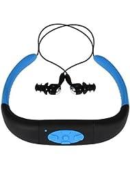 MP3per running, impermeabile, MP3, lettore musicale MP3subacqueo, auricolare con radio FM, utilizzando per nuoto, surf e immersione (blu)