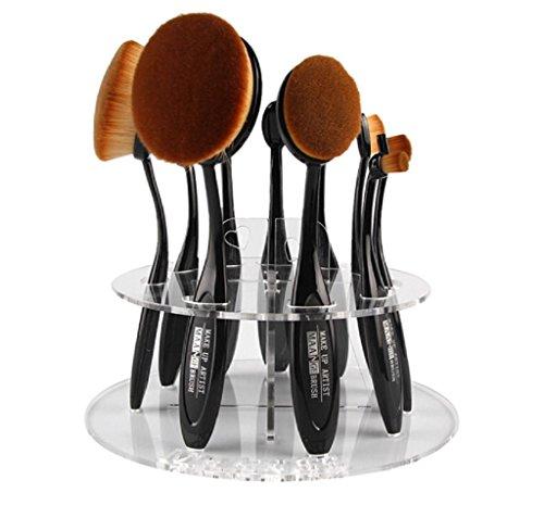 Covermason 10 Loch Oval Make-up Pinsel Halter Trockenrack Veranstalter Kosmetikum Regal Werkzeug...