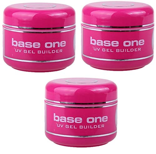 Base Cover (3x Silcare UV-Gel Base One Builder Cover Abdeckung säurefrei 3x50g)