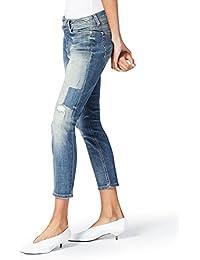 FIND Damen Boyfriend Jeans mit Rissen