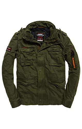 Superdry Rookie Classic 4 Pocket Jacket Abrigo, Beige (Khaki Nuj Y4i), Large para Hombre
