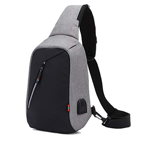 Qubaoertai zaino sportivo, borsa tracolla daypackzaino borsa a tracolla con porta di ricarica usb chest sling bag per escursionismo/campeggio / corsa/in viaggio/ciclismo/ college
