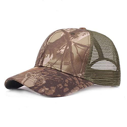 LZX Camouflage Net Cap Baseball Cap Visier Outdoor Sonnenhut Camouflage Sommer Cap Mesh Hüte für Männer Frauen Casual Hüte Hip Hop Baseball Caps,B
