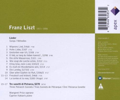 Liszt : 3 sonnets de Pétrarque - Lieder