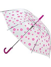 großer XL /_ Regenschirm gepunktet Erwachsene /& Automatik Punkte schwarz