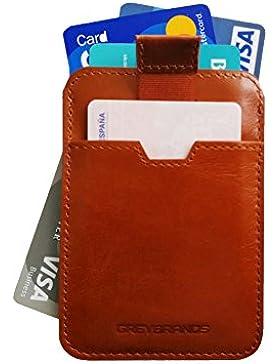 CARTERA Ultra DELGADA para Hombres con Cuero Genuino de Alta Calidad | Diseño Moderno | billetera Minimalista...