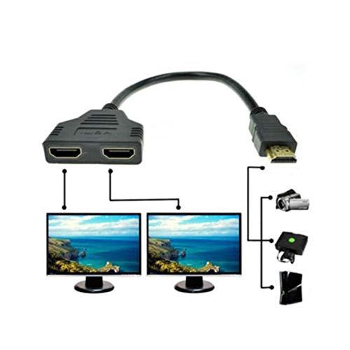 1080P High Definition Multimedia Interface Port Kabel Adapter 1 In 2 Out Splitter Kabel Adapter Konverter - Schwarz
