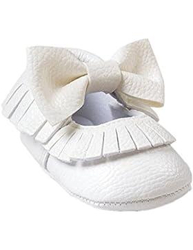 Por 0-12 meses bebé,Auxma Bebé Soft bowknot zapatos
