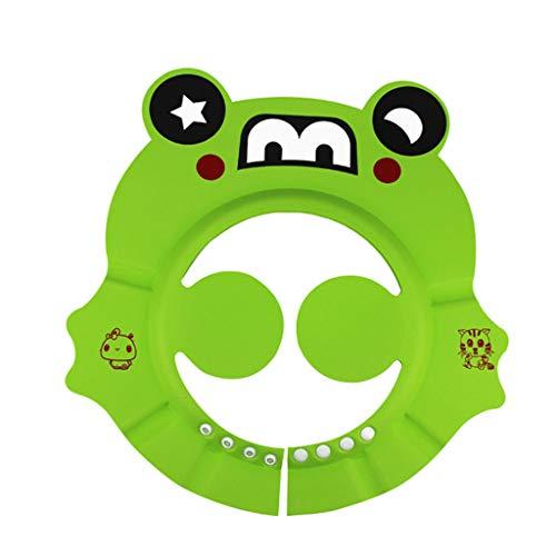 ZJF Baby Shampoo Artefakt Kinder Wasserdichte Silikon Ohr kann Shampoo Cap einstellen (Farbe : Green)