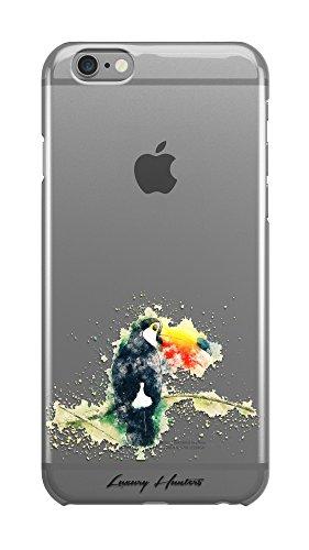 Toucan Tropical Parrot Bird Splash Zeichnung Malerei Transparente Hartschale Kunststoff Schutzhülle für Apple iPhone Design von (Ideen Malerei Einfache)