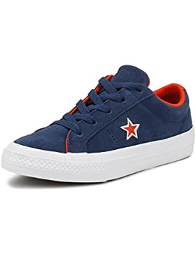 Converse One Star Navy Suede Junior Trainers