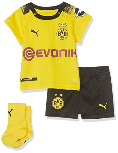 PUMA Kinder BVB Home Babykit Socks Evonik with OPEL Logo Trainingsanzug, Cyber Yellow Black, 68 -