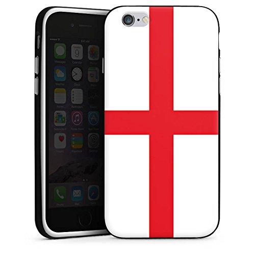 Apple iPhone 5s Housse Étui Protection Coque Angleterre Drapeau Ballon de football Housse en silicone noir / blanc