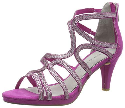 MARCO TOZZI Damen 2-2-28373-22 Geschlossene Sandalen, Pink (Fuxia Comb 540), 41 EU