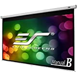 "Elite Screens Manual B, 100"" 16: 9, Manual Pull Down Projector Screen 4K / 3D Ready with Slow Retract Mechanism, 2 Year Warranty, M100H"