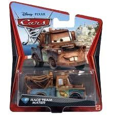 Disney Pixar Cars 2 Die Cast Race Team Mater #1 por Mattel