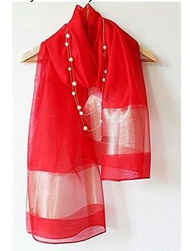 Pañuelo de seda de morera _ lujoso palacio del viento el hilo muy estrechamente las servilletas color sólido rojo...