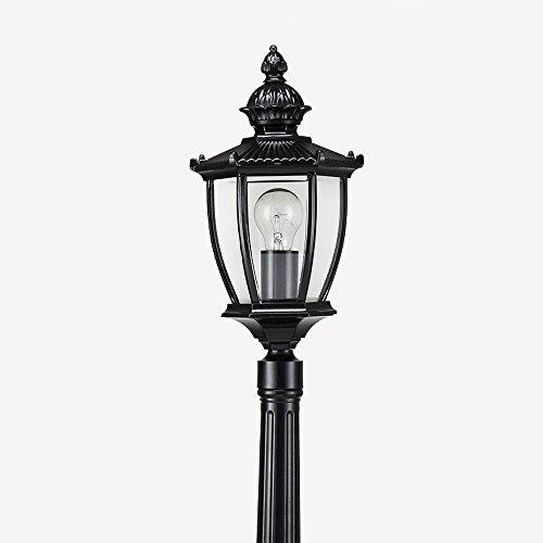 Modeen Traditionellen viktorianischen Stil 2.1M Schwarz 1-Licht Weg Ip55 Wasserdichte Outdoor Garten Lampe Post Light Glass Spalte Lampe LED-Licht E27 Dekoration Straßenlaterne Lawn Villa Lampe (30 Traditionelle Post)