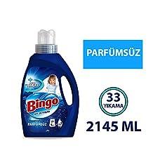Bingo Sıvı Performans Çamaşır Deterjanı, Parfümsüz, 2145 Ml
