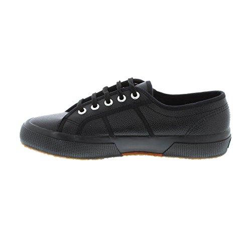 Superga Men Black Leather Lace up Shoes 9