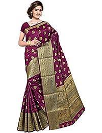 Blissta Women's Banarasi Silk Saree With Blouse Piece