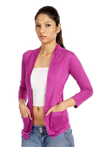 Teemoods Womens Viscose Shrugs -Violet -Small