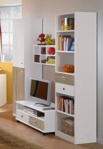 Kinderzimmer Wohnwand »DAYLIGHT« in alpinweiß - Eiche sägerau
