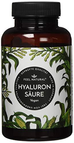 Hyaluronsäure Kapseln - 500mg je Kapsel - 90 Stück (3 Monate). Hyaluron 500-700 kDa. Laborgeprüft, hochdosiert, vegan, hergestellt in Deutschland