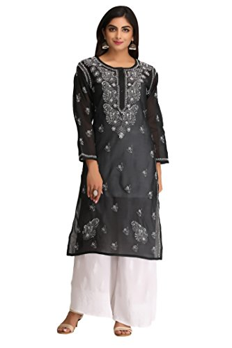 ADA Handmade Lucknow Chikankari Regular Wear Cotton Kurti Kurtas A208448