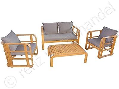 Gartenmöbel / Gartensitzgruppe Holz Lounge Akazie inkl. Polster