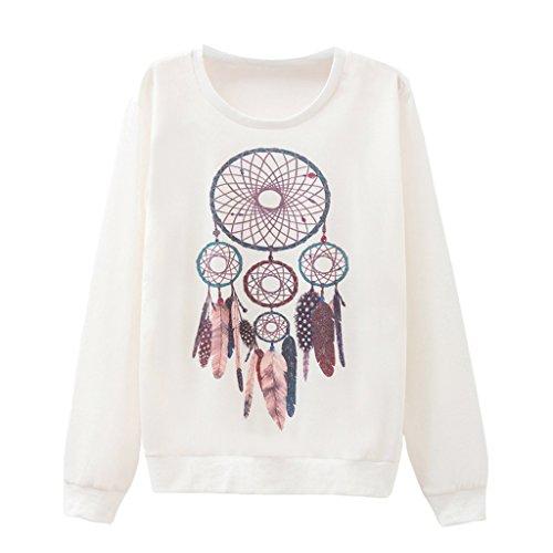 Mädchen Kunst Handgemalte Traumfänger Muster Pullover Scoop Neck Lässige Pullover