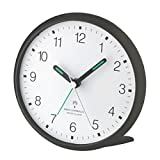 Wetterladen TFA Dostmann 60.1506 Lautloser Analoger Funkwecker mit Sweep-Uhrwerk