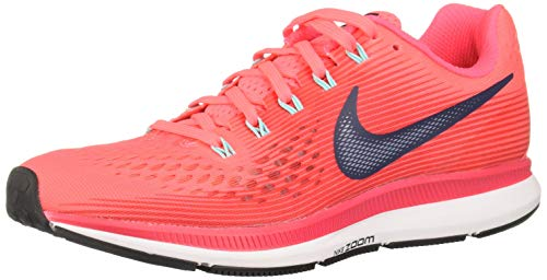 Nike Wmns Air Zoom Pegasus 34, Zapatillas de Running para Mujer, Rosa (Hot Punch/Thunder Blue/Siren Red/lt Aqua/White/Black), 36 EU