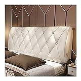 ZHHL Bett Zurück, Lesen Rückenlehne Sofa Soft Bag Dreieckiges Keilbett Rückenkissen Großes Großes Kopfteil 05 (Farbe : Weiß, größe : 200 * 60cm)