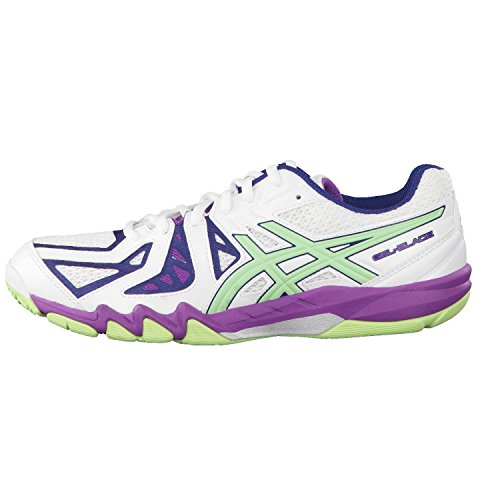 Asics Gel-blade 5, Chaussures de Squash Femme white/pistachio/grape