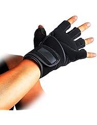 Multifuctional Guantes de fitness guantes, guantes de medio dedo, Guantes para Ciclismo, Escalada, para levantamiento de peso, Cross formación, bicicleta estática & # xFF0C; Tenis y más Deportes al aire libre