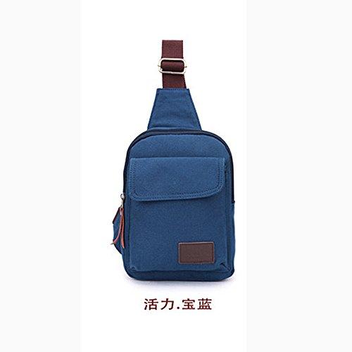 Meoaeo Borse Uomo Promozioni Uomini Petto Confezioni Coreano Moda Borse Outdoor Riding Obliqui Di Spallamento Kaki Blue