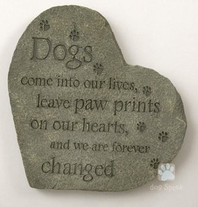 Pet mémoire deuil Pierre ~ pattes sur nos coeurs ~ 25,4x (Pet Memorial Stepping Stones)