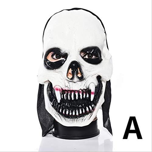 Xiaodu Halloween Maske Latex Mann Spuk Haus Verkleiden Prom Room Escapes Horror Zombie Maske 6,A