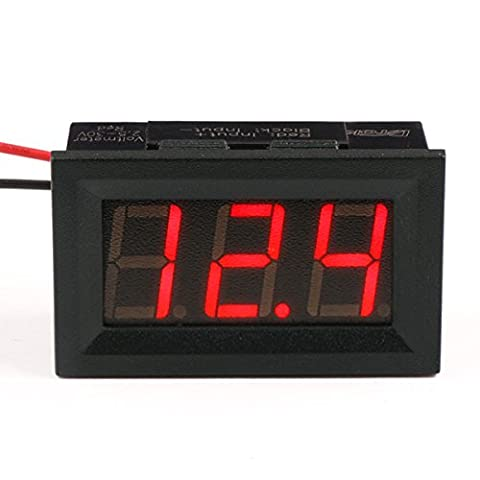 DROK® Digital Voltmeter 2.5V-30V DC Panel Meter 2-Wire 0.56 Inch