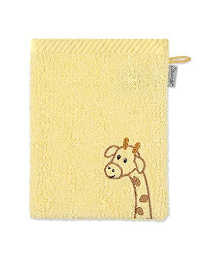 Sterntaler Waschhandschuh Kuschelzoo, Giraffe Greta, Größe: 21 x 15 cm, Gelb