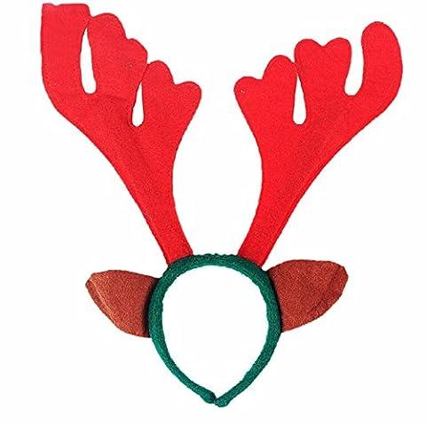 Mesdames Homme Deeley Bopper Alice Bandeau de Noël feutre rouge bois