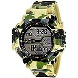 Emartos Digital Men's & Boy's Watch (Black Dial Yellow Colored Strap)