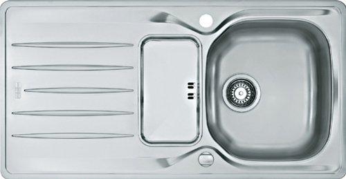Franke Libera LIX 681 Edelstahl-Spüle Küchenspüle Spülbecken Auflage Siebschale