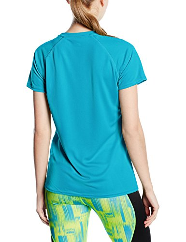 Fruit of the Loom Ss075m, T-Shirt Femme Bleu (Azure Blue)
