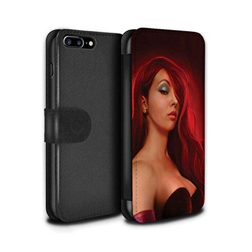 Officiel Elena Dudina Coque/Etui/Housse Cuir PU Case/Cover pour Apple iPhone 7 Plus / Princesse Design / Caractère Conte Fées Collection Jessica