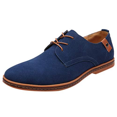 SOMESUN Herren Wildleder Geschäft Schlank Schnürhalbschuhe Männer Modisch Einfarbig Spitz Zehe Anzugschuhe Büro Formal Lederschuhe Weich Atmungsaktiv Rutschfest Freizeit Oxford Schuhe